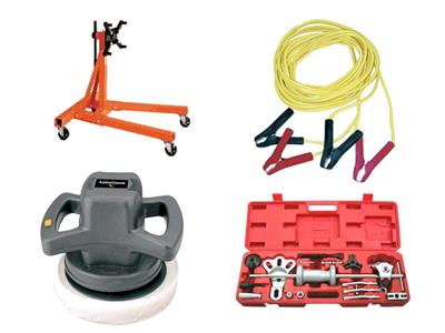 Rent your ball joint press,battery charger,camshaft bearing tool,car polisher,clutch alighment tool,coil spring compressor,dent puller,engine crane,floor jack,gear pullers,pitman arm puller,steering wheel puller,